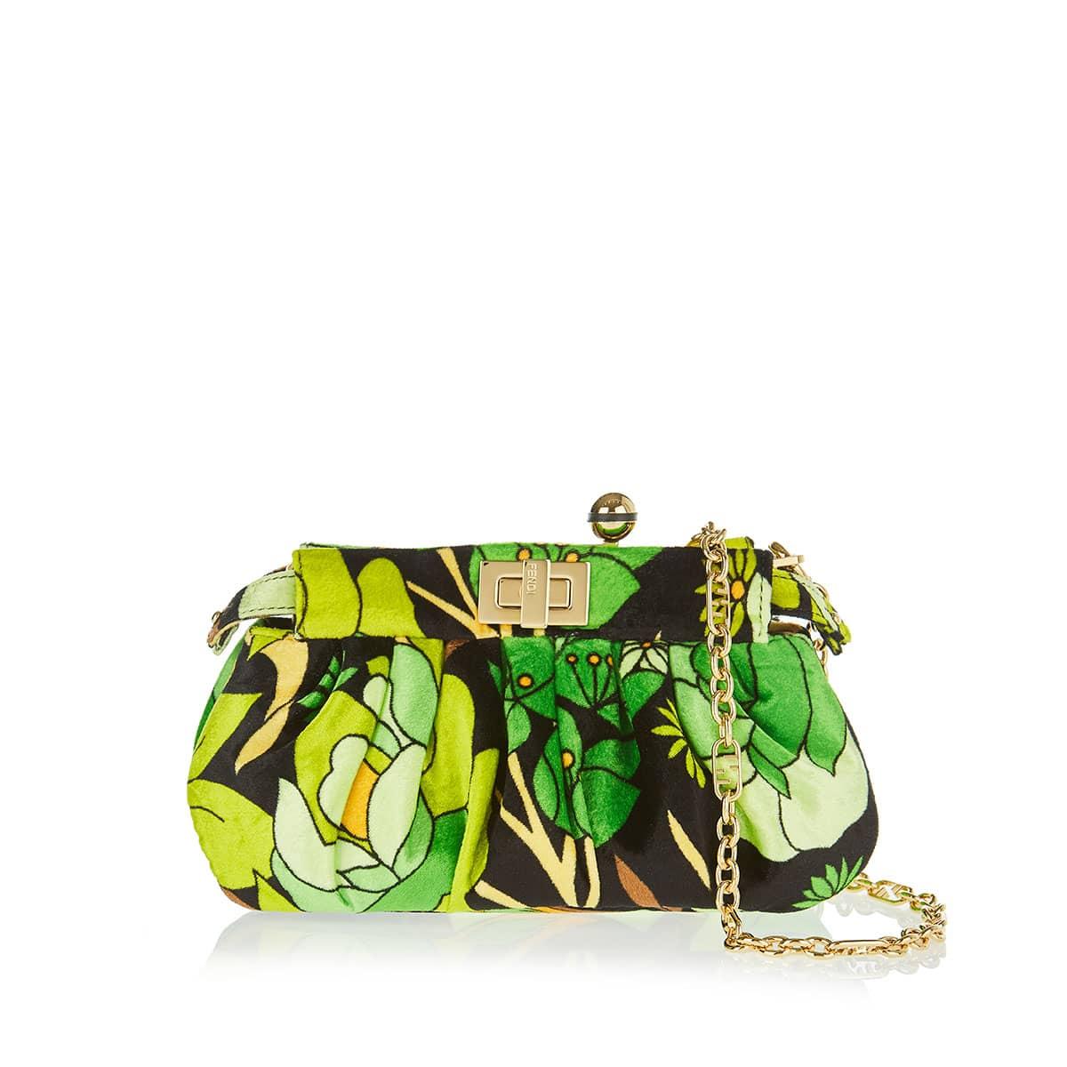 Peekaboo Click floral chenille bag