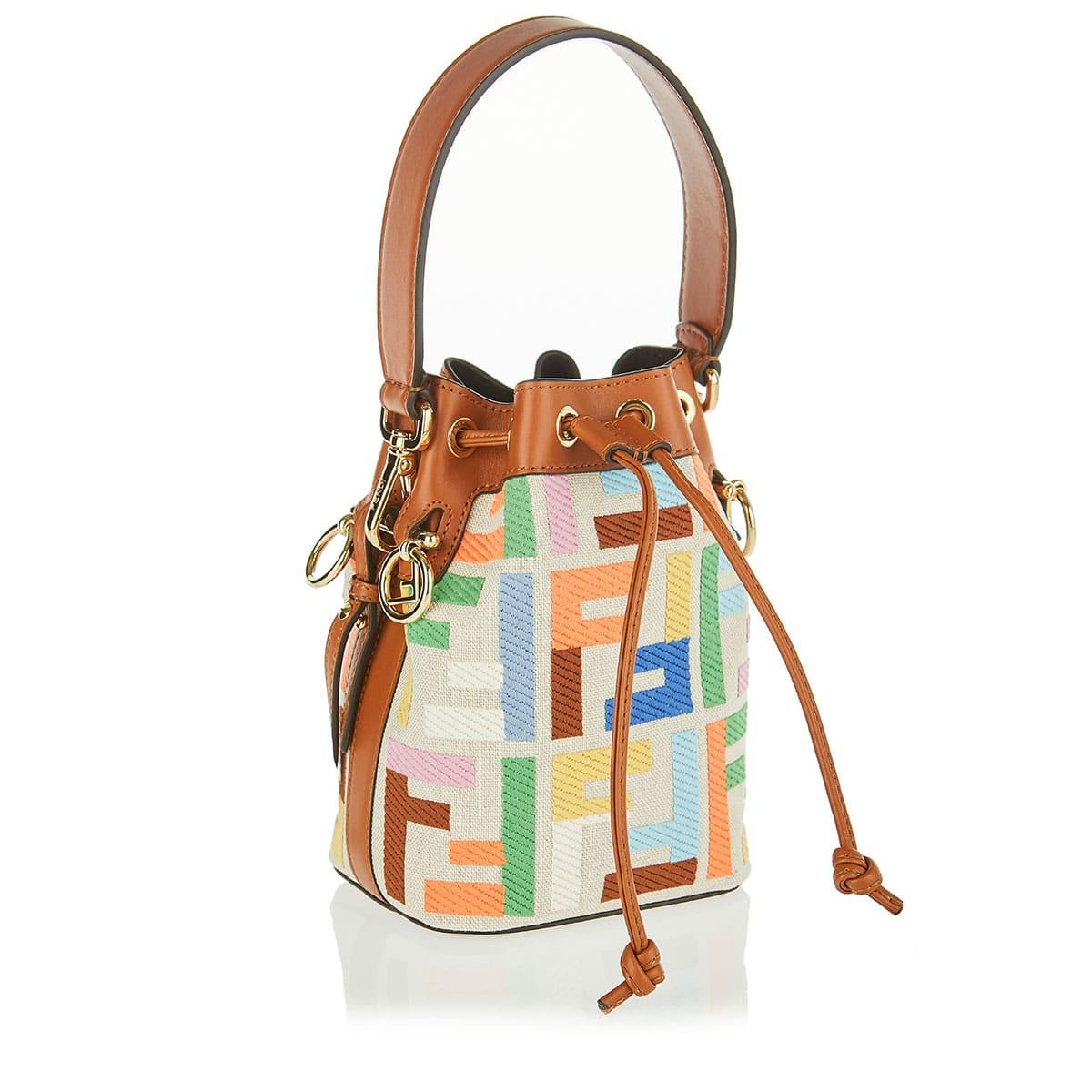 Mon Trésor FF mini canvas bucket bag