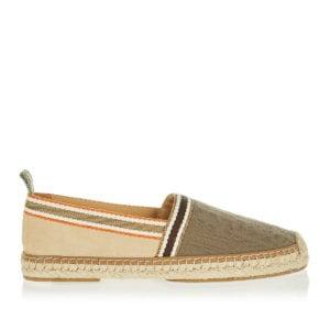 FF canvas and suede espadrilles