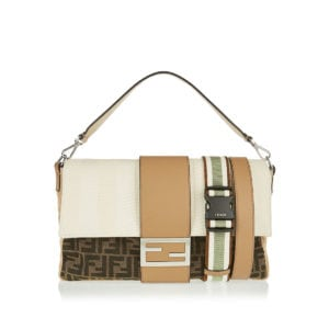 Baguette FF canvas and leather bag