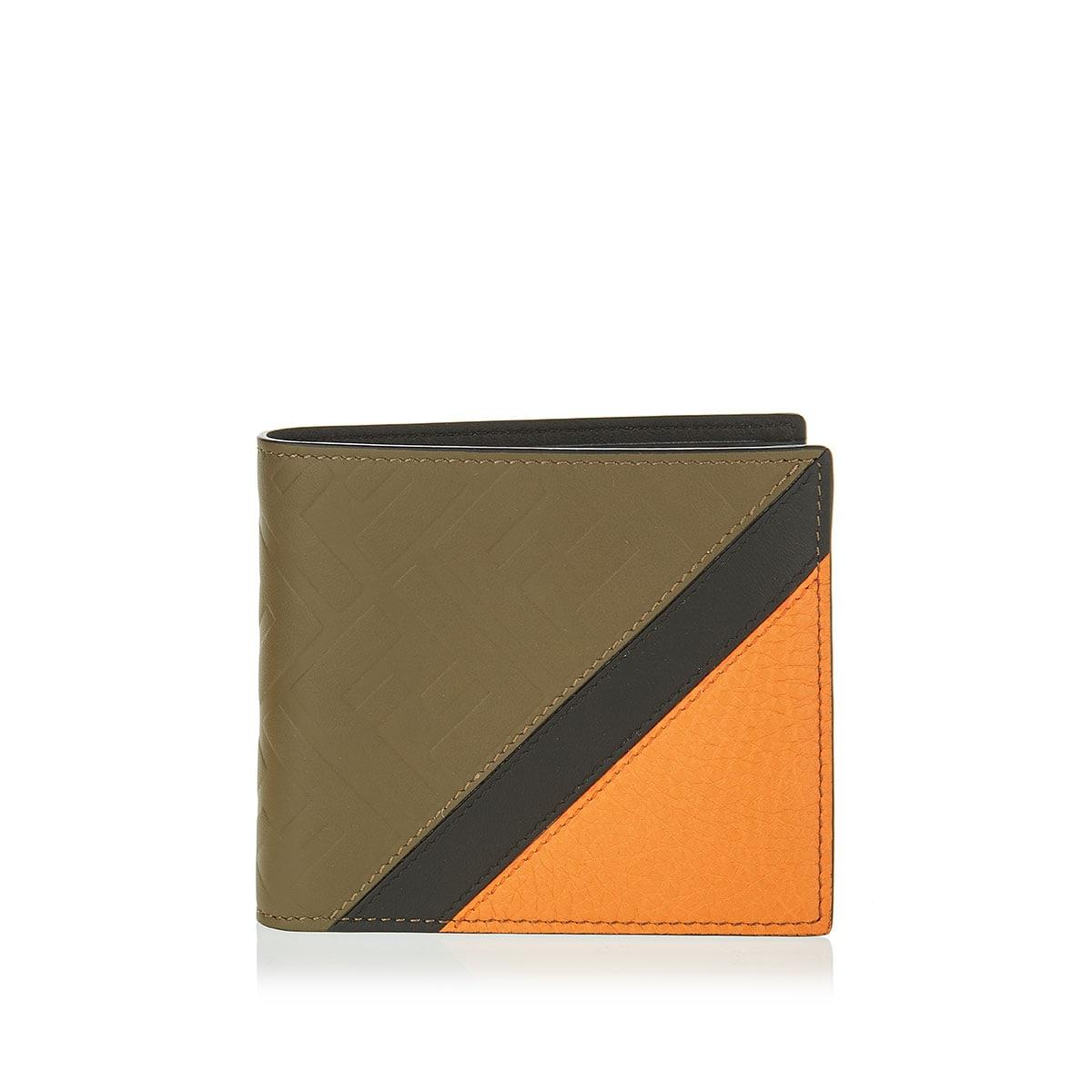 FF leather bi-fold wallet