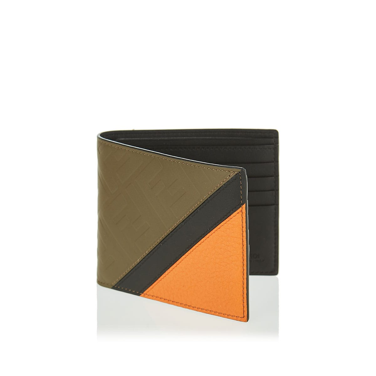 FF leather bi-fold wallet