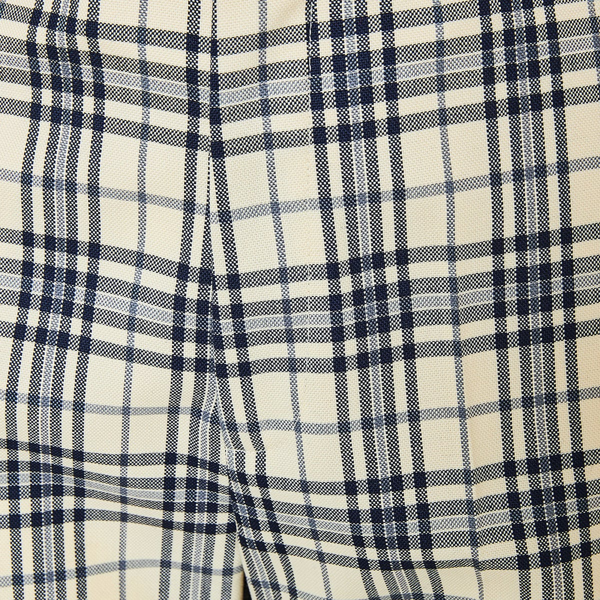 Checked flared wool trousers