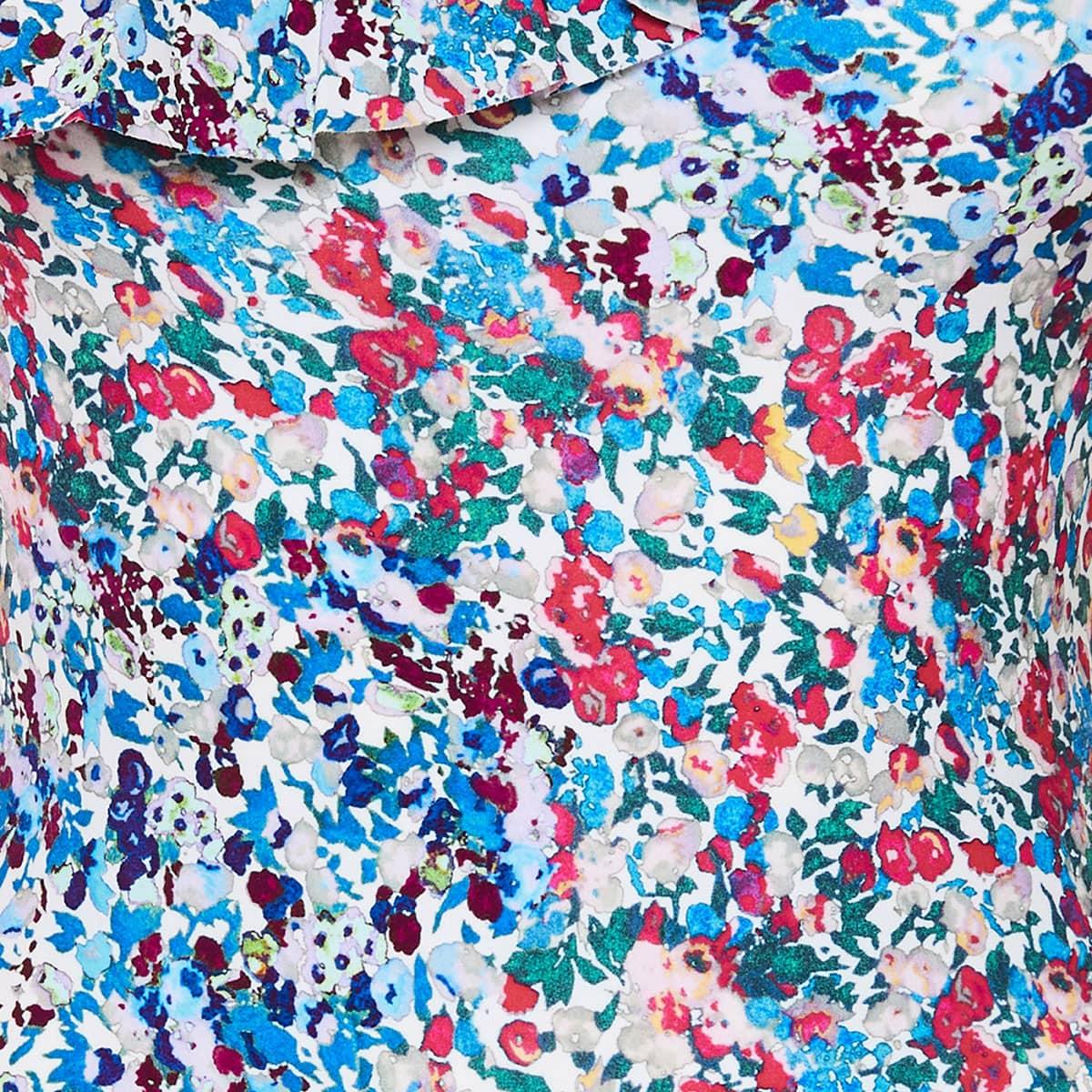 Sicilya one-shoulder floral swimsuit