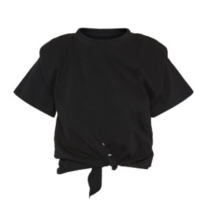 Belita cropped knotted t-shirt