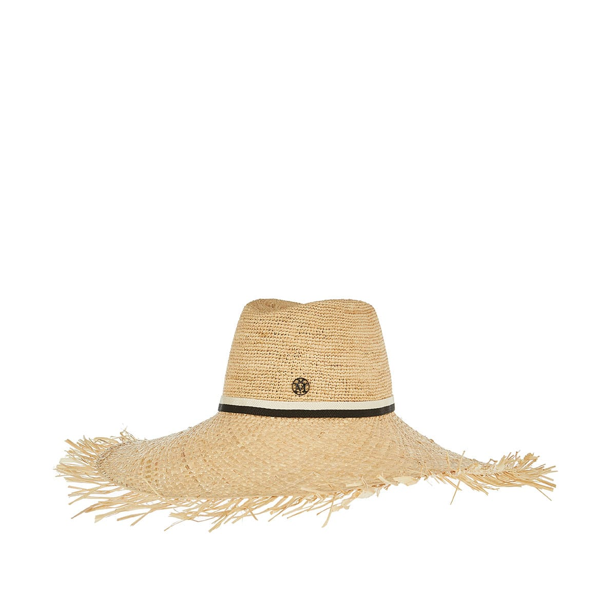 Big Kate frayed raffia hat
