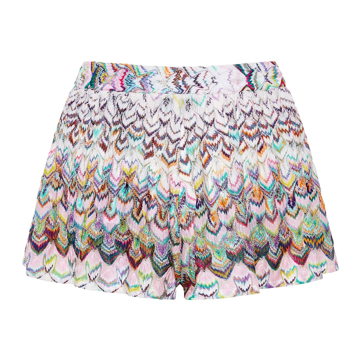 Abstract print knitted shorts