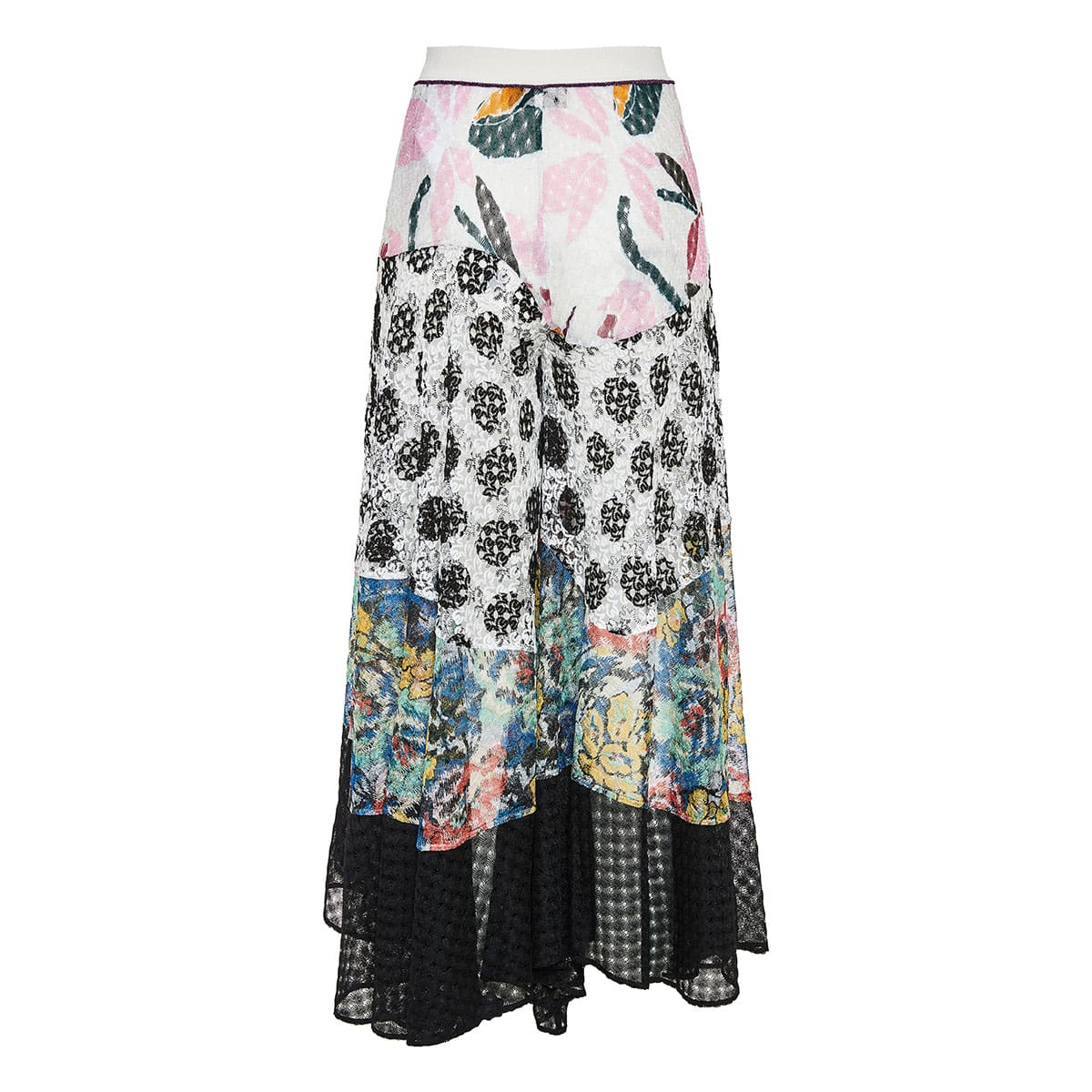 Patchwork knitted culottes
