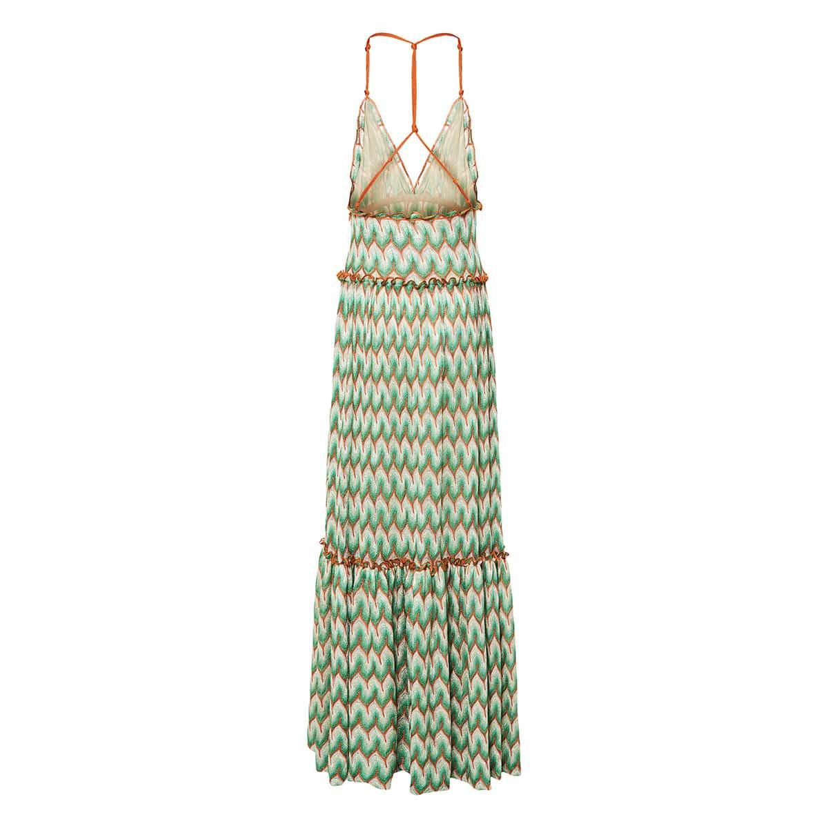 Long knitted halterneck dress