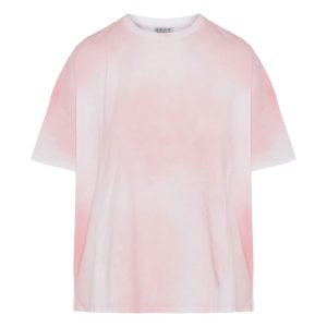 Oversized tie-dye cropped t-shirt