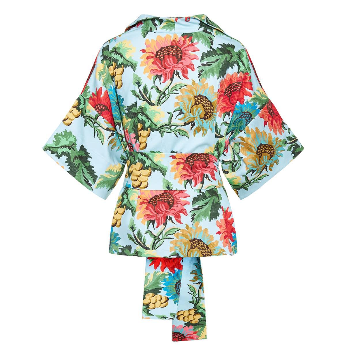 Claudia floral kimono blouse