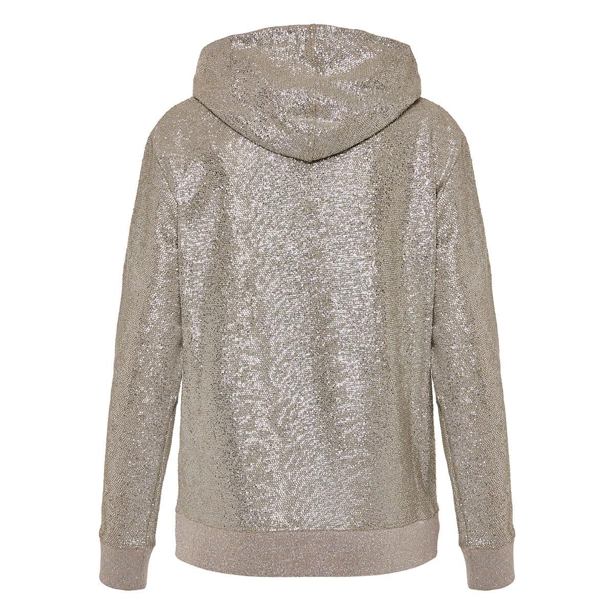 Crystal embellished hoodie