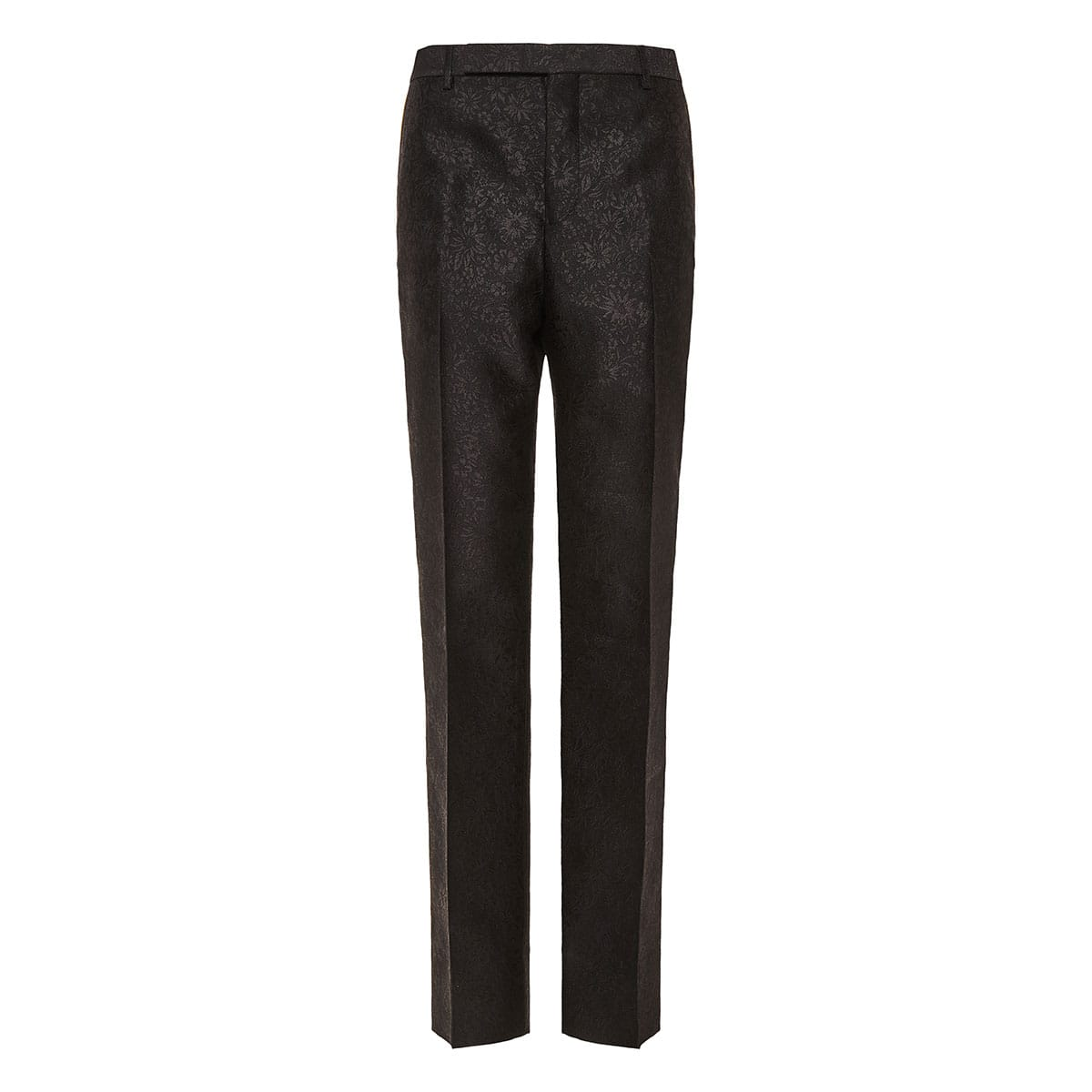 Jacquard tailored trousers with side bands