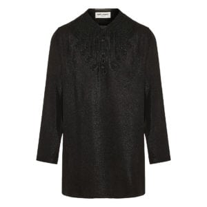 Shimmering tunic with beads and embroideries