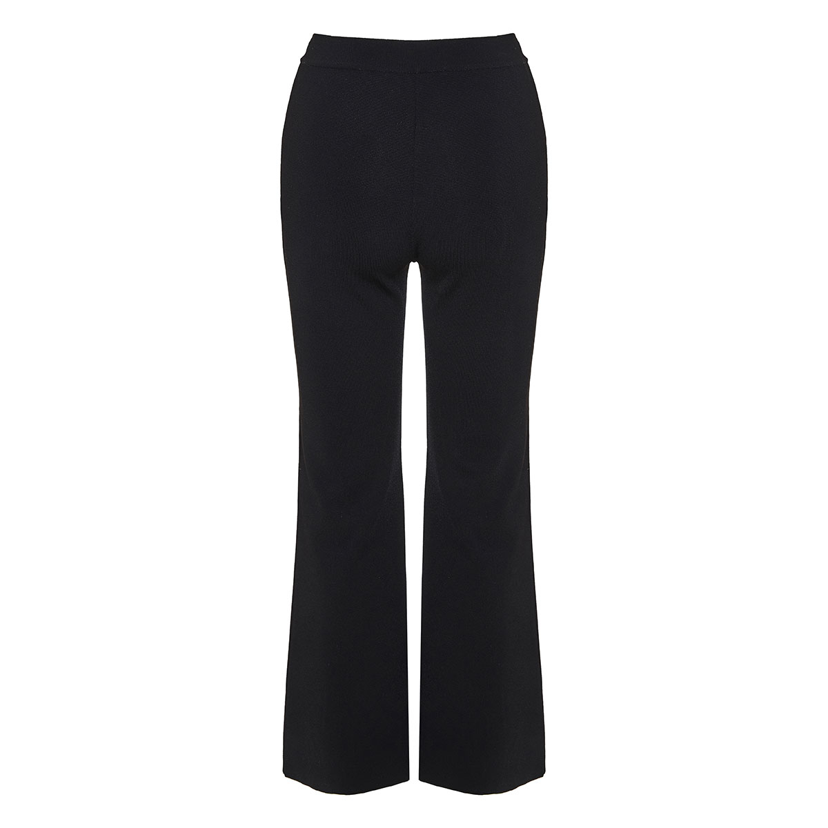 Knitted trousers with slits