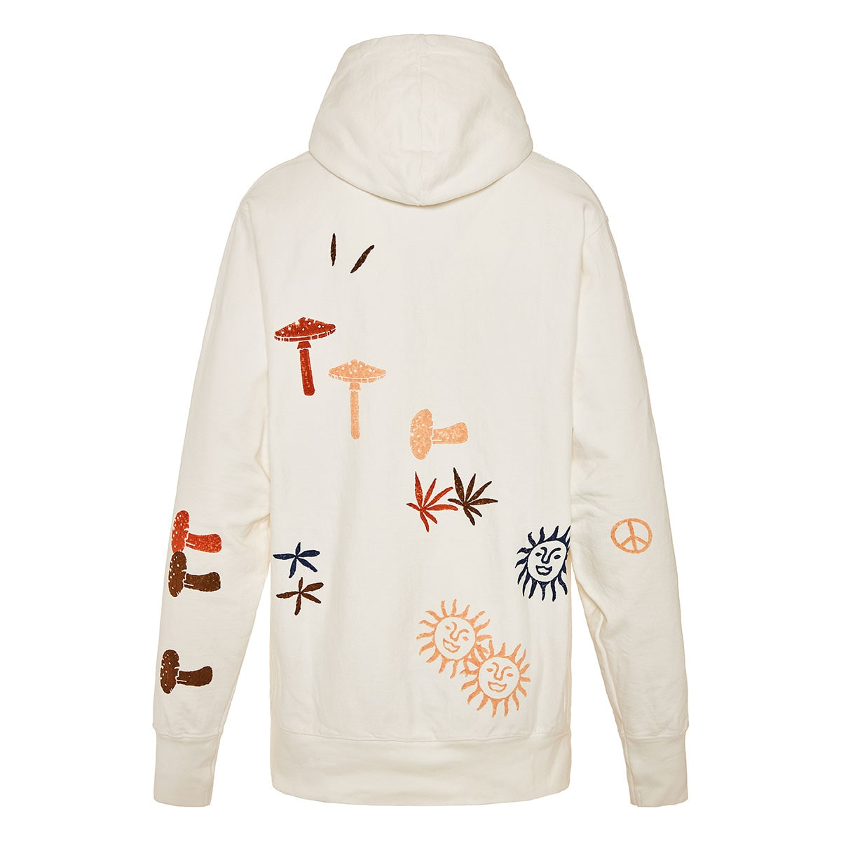 Bloom oversized printed hoodie