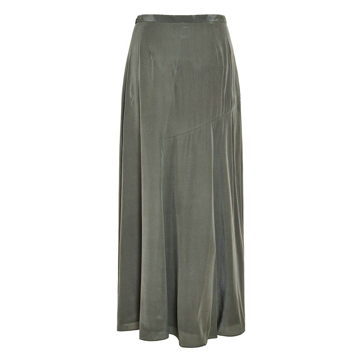 Long draped silk skirt