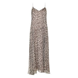 Leopard long chiffon slip dress