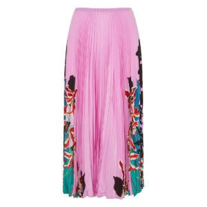 Orchid Ramage pleated midi skirt