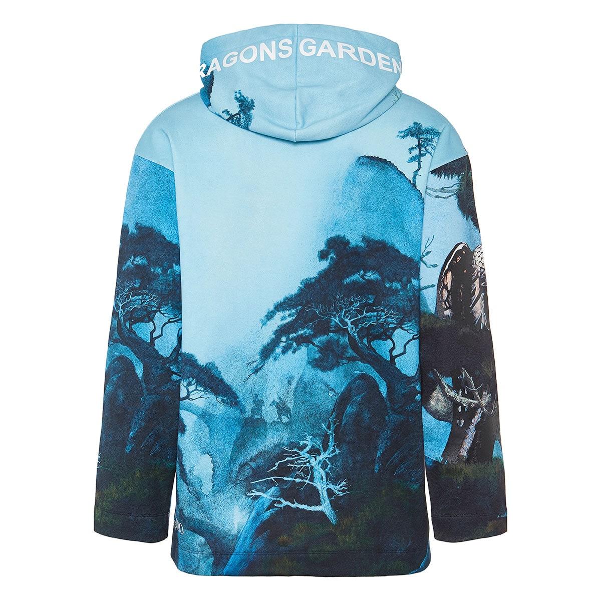 Dragons Garden oversized printed hoodie
