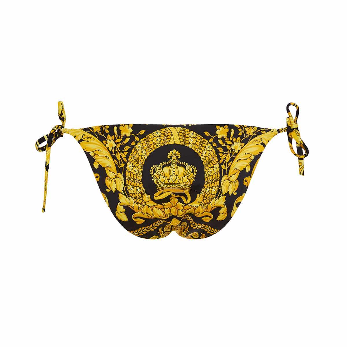 Baroque print bikini bottoms