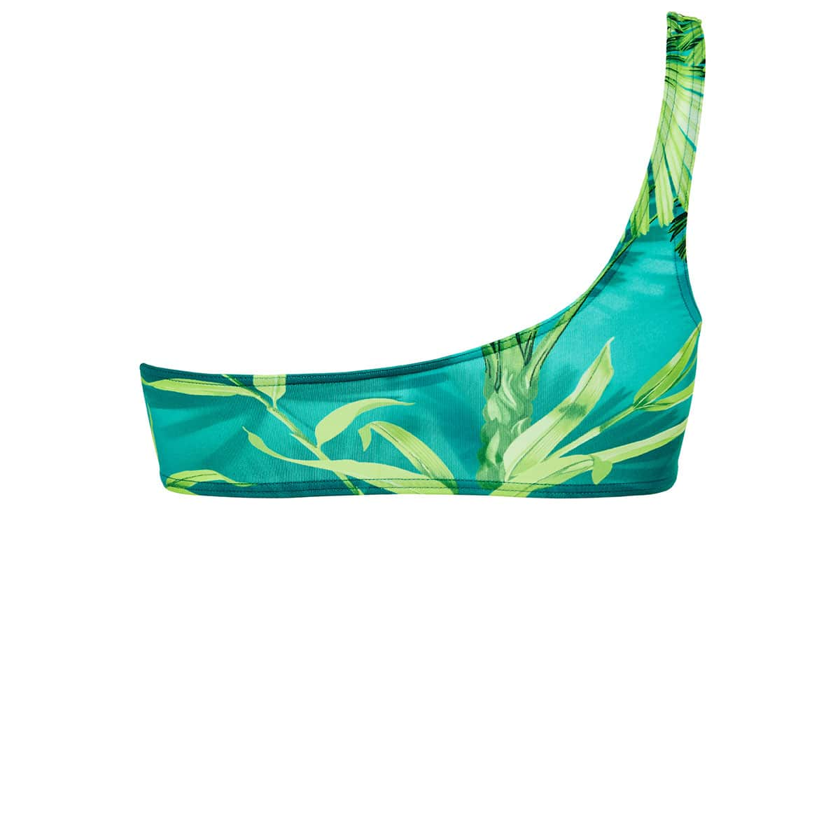 Jungle print one-shoulder bikini top