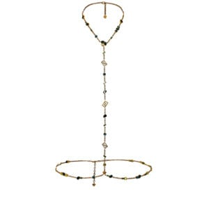 Crystal-embellished chain harness
