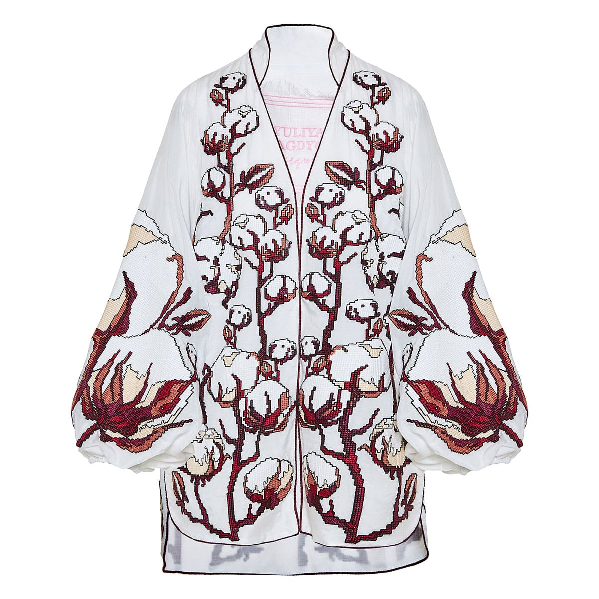 Cotton embroidered linen mini dress