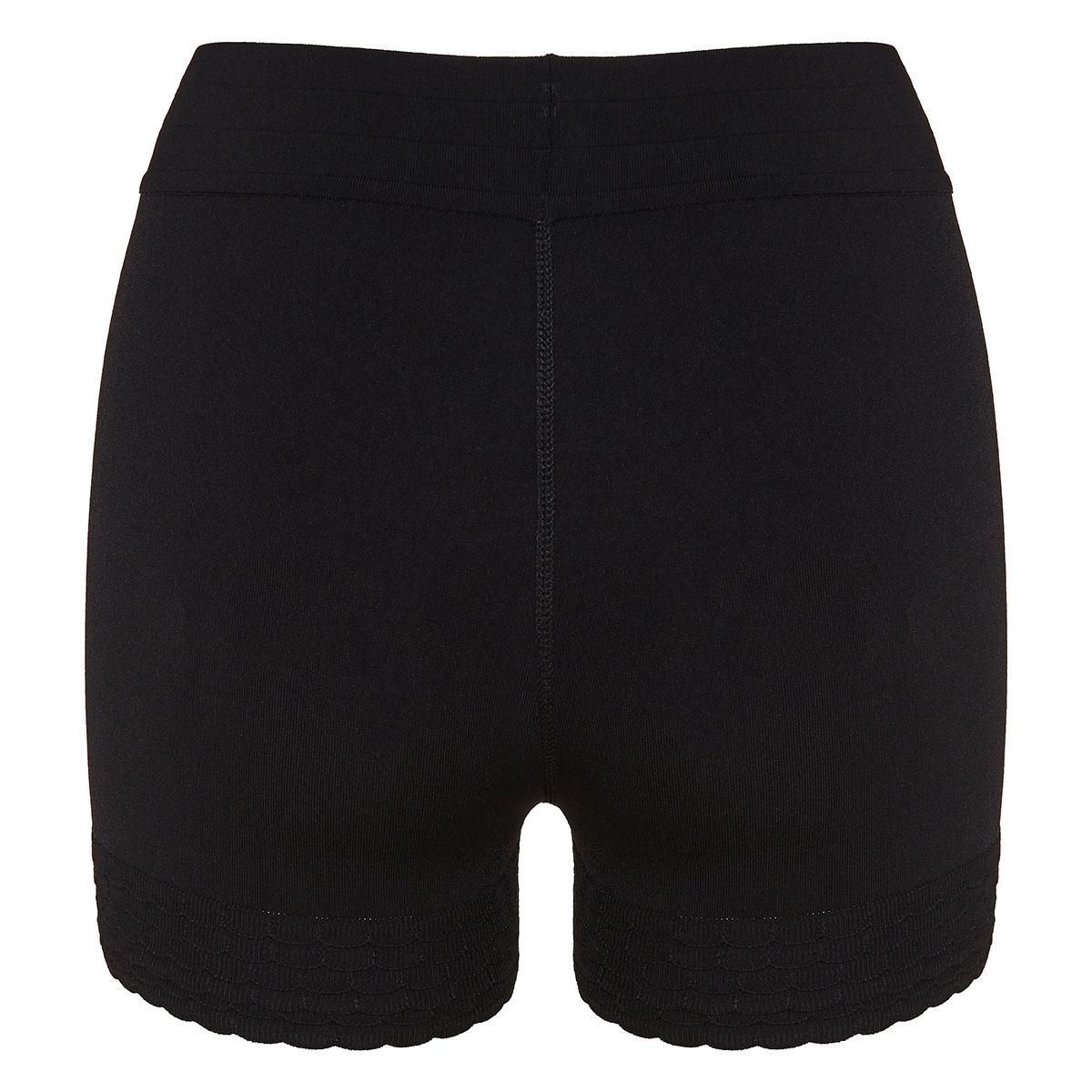 Stretch-knit scalloped shorts