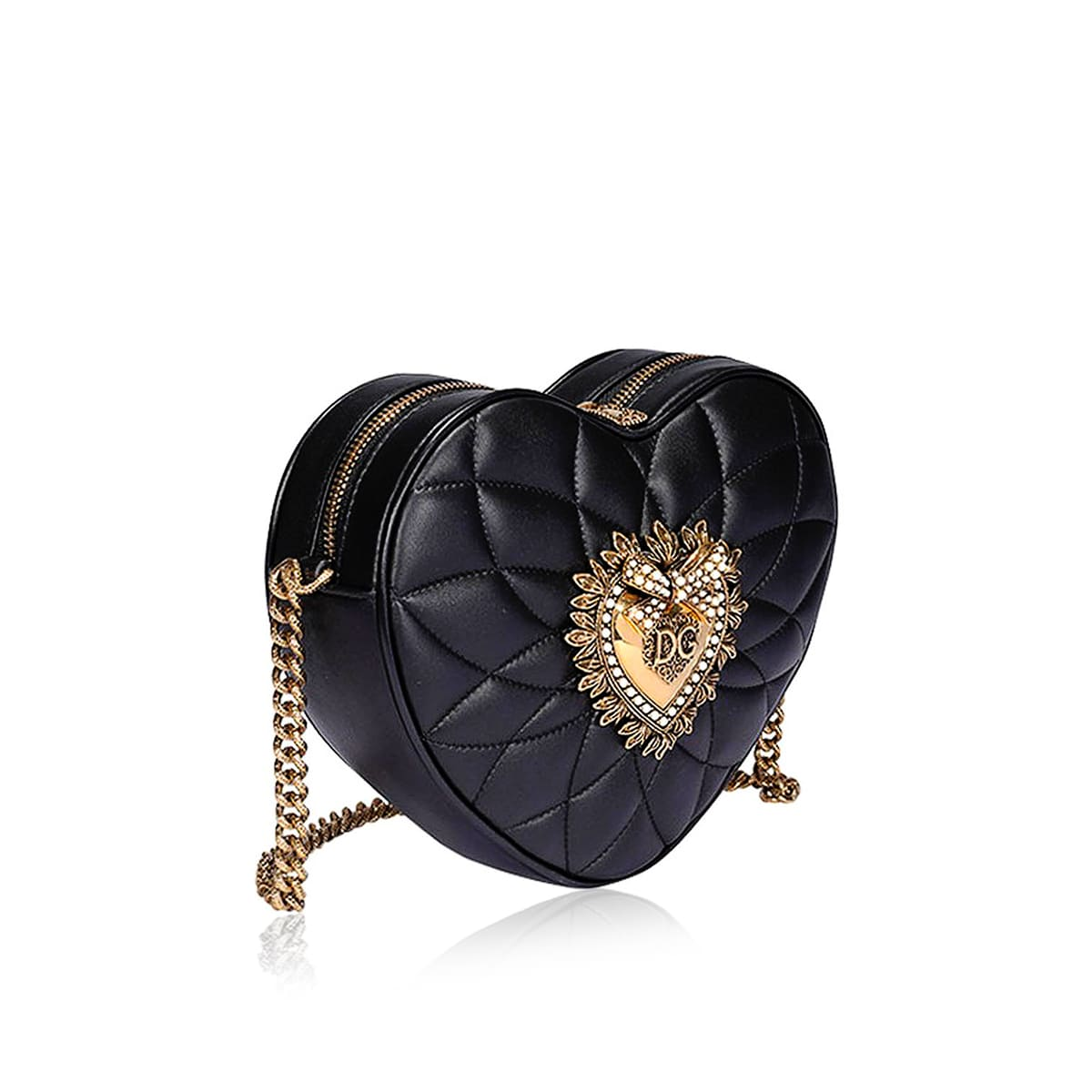 Devotion heart-shaped leather bag