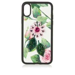 Embellished floral iPhone X case