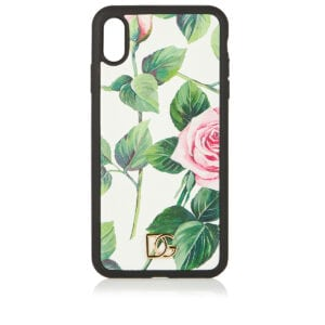 Floral leather iPhone XS max case
