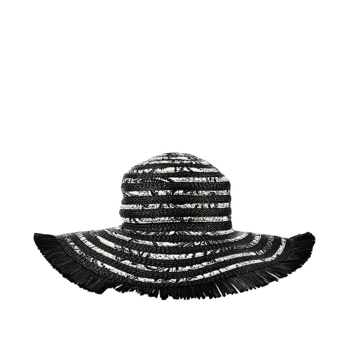 Printed woven hat