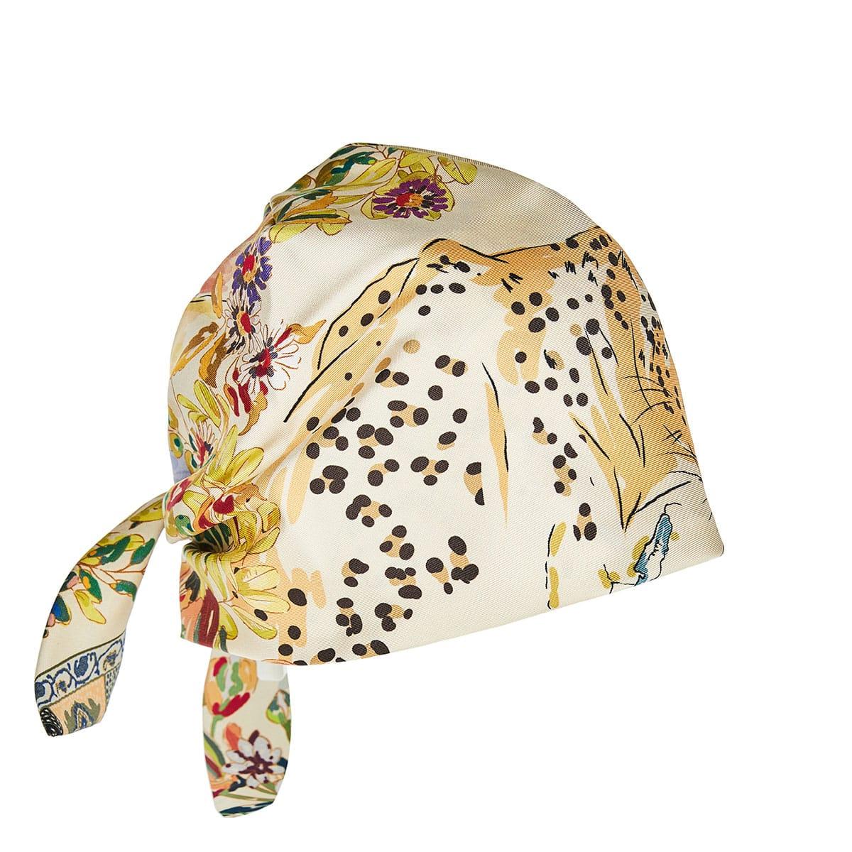 Printed silk turban