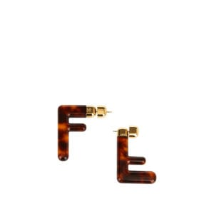 FF asymmetric plexi earrings