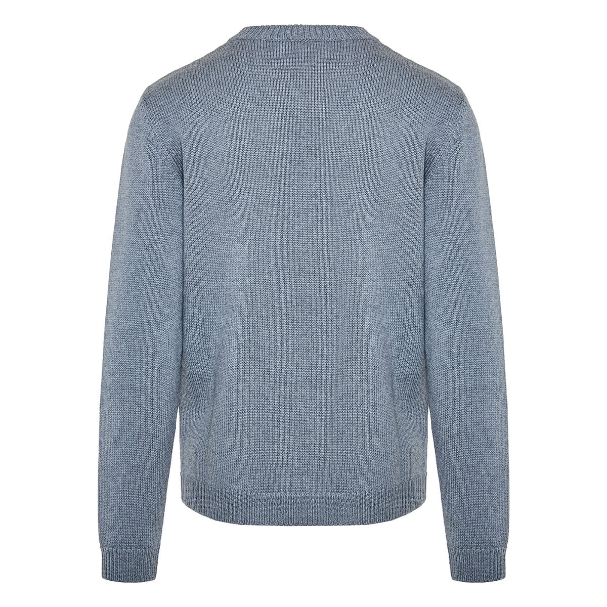 Wool sweater with pinstripe pockets