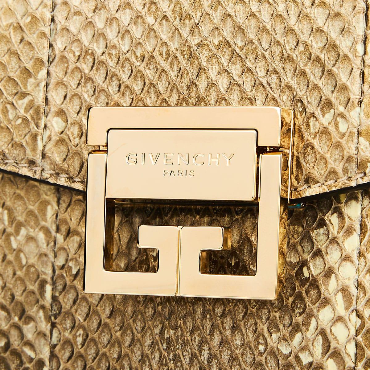 GV3 small snakeskin crossbody bag