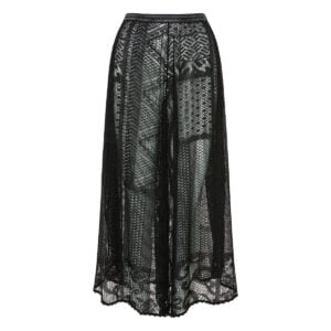 Knitted sheer culottes