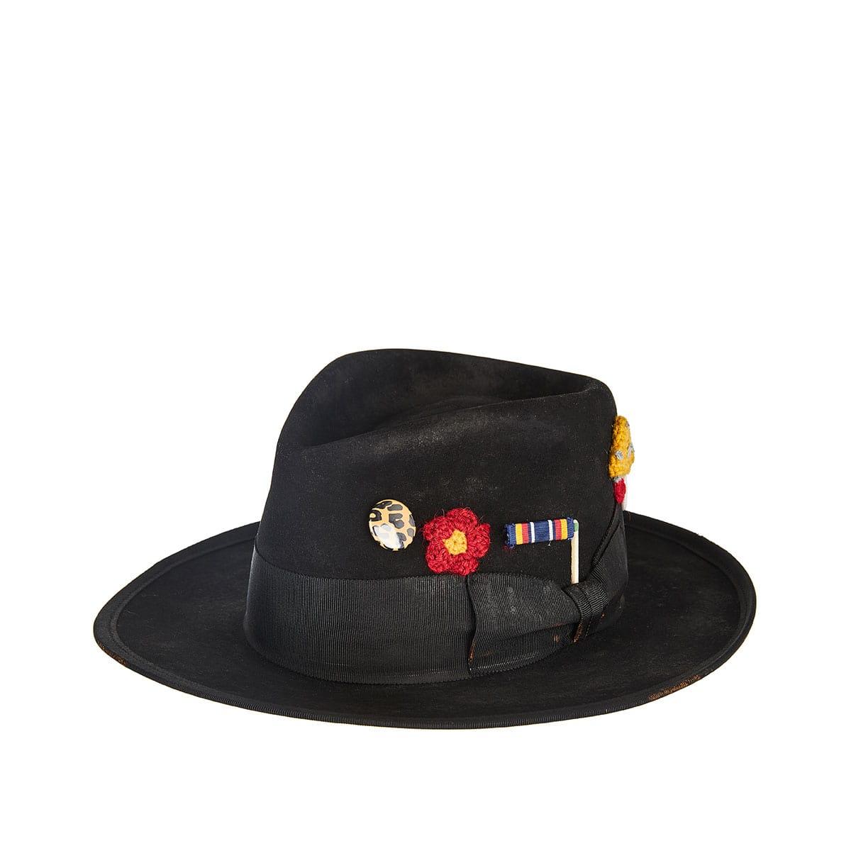Los Crudos embellished felt hat