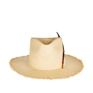 Black Bird woven straw hat