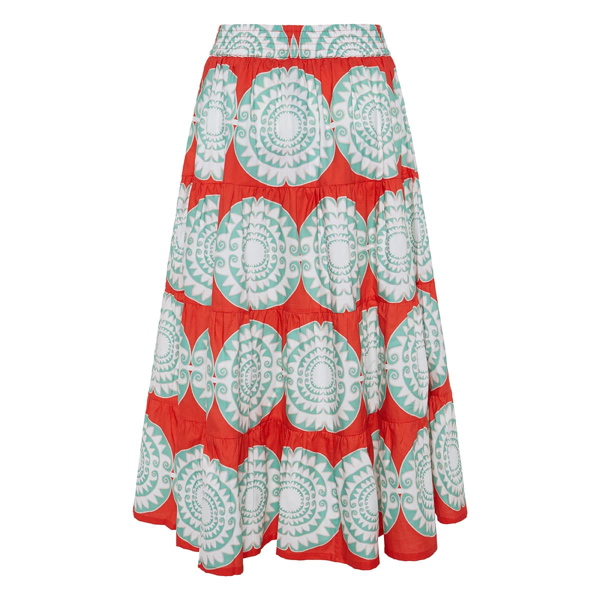 Loukoumi printed tiered skirt