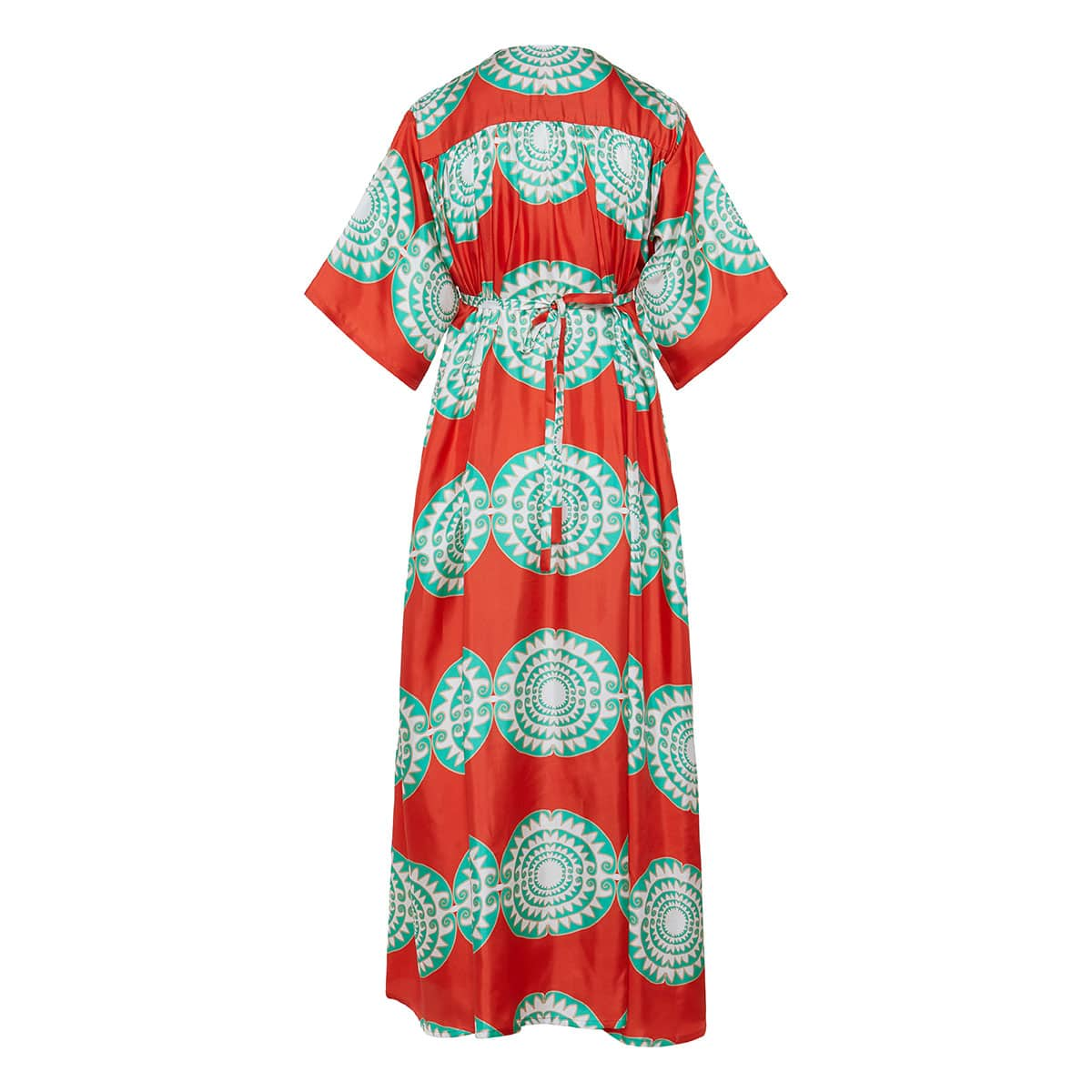 Loukoumi long printed kaftan dress