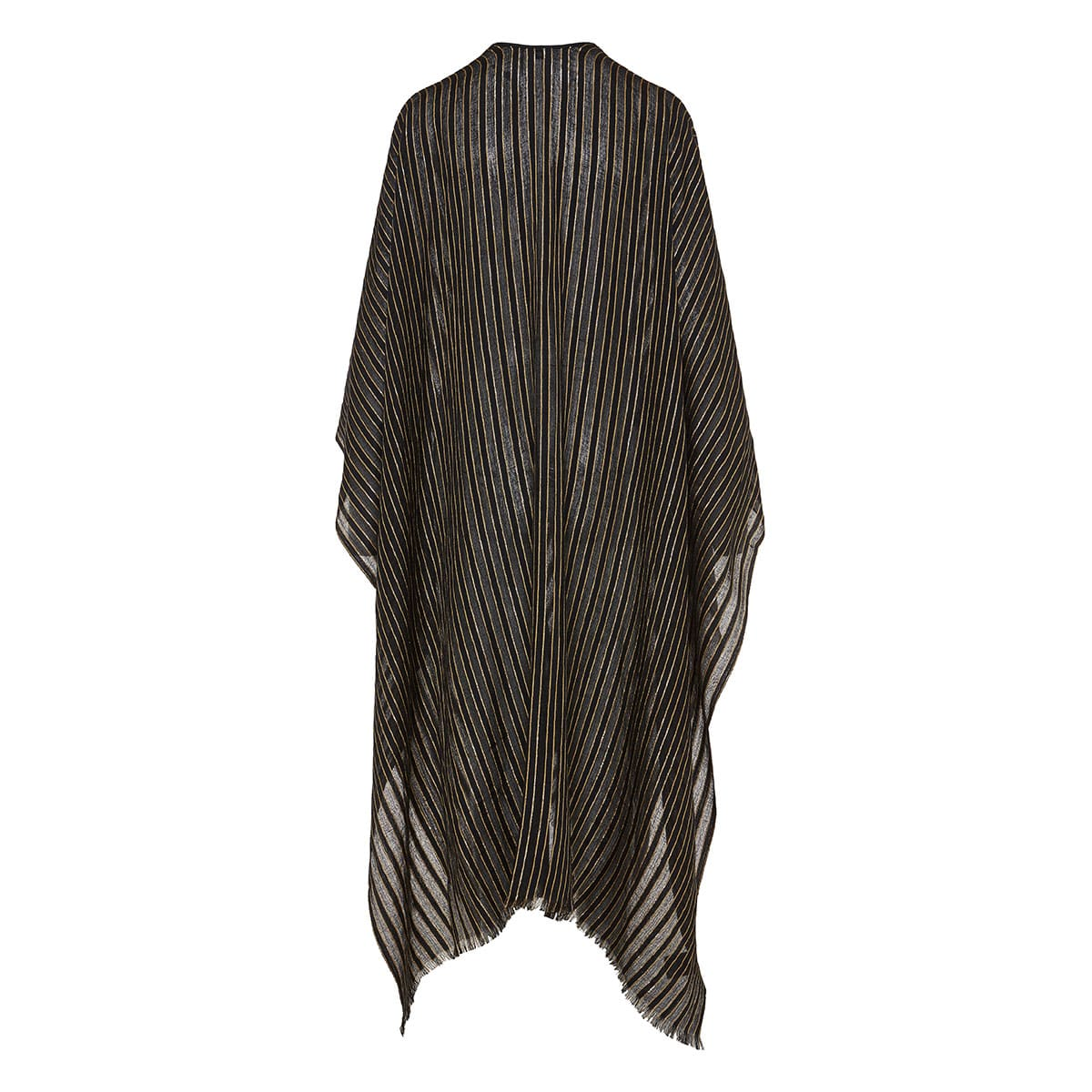 Long striped lurex cape