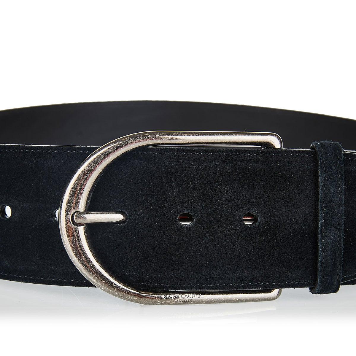 Wide suede belt