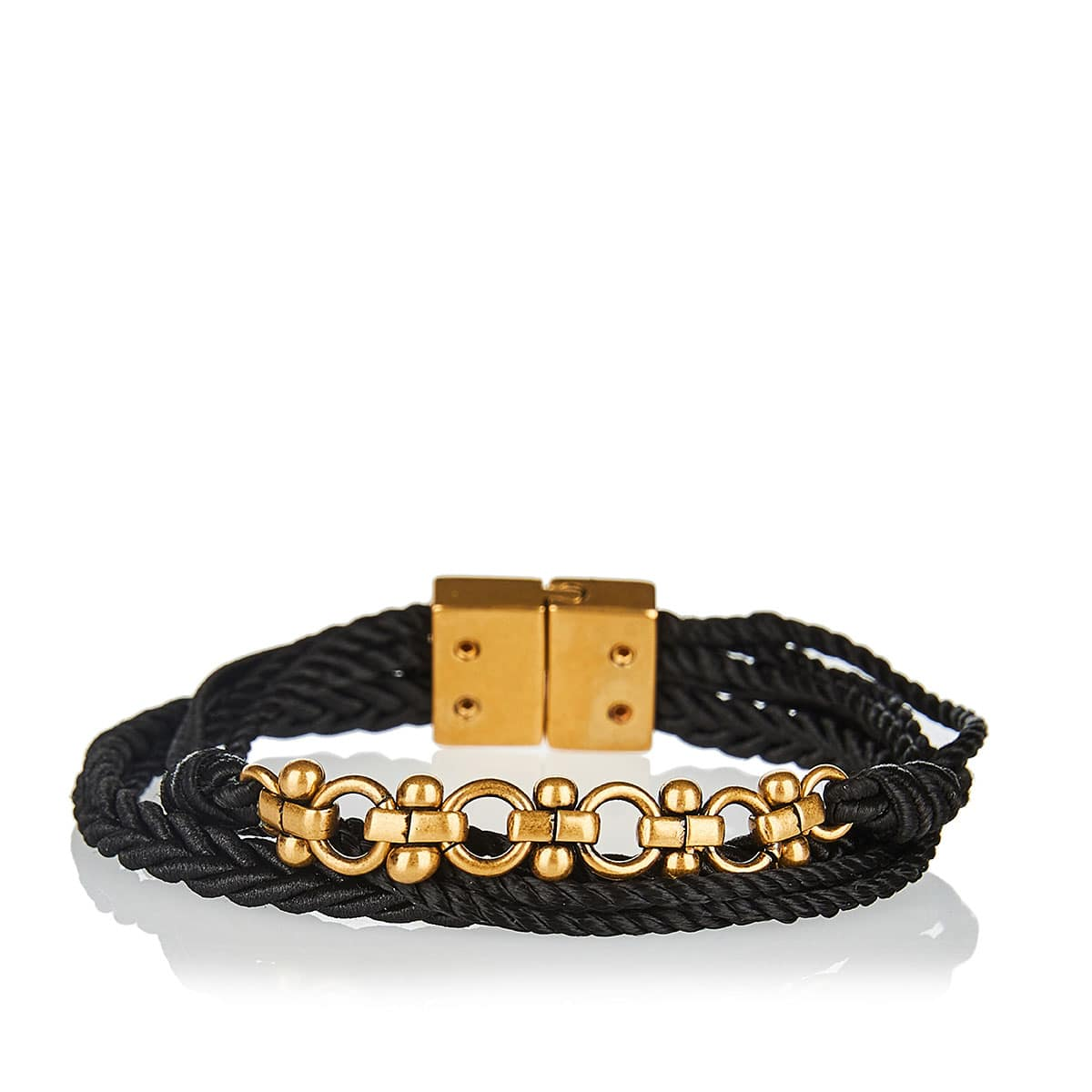 Embellished braided cord bracelet
