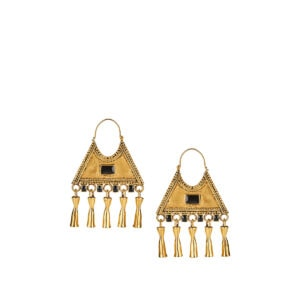 Triangle charm earrings