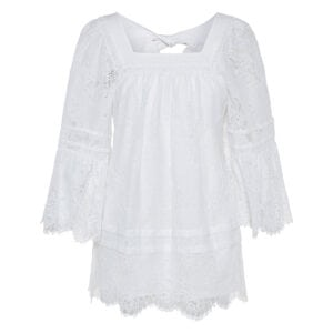 Open-back lace tunic dress
