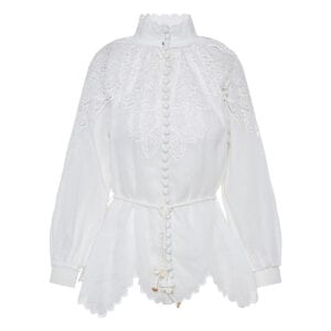 Carnaby scalloped broderie shirt