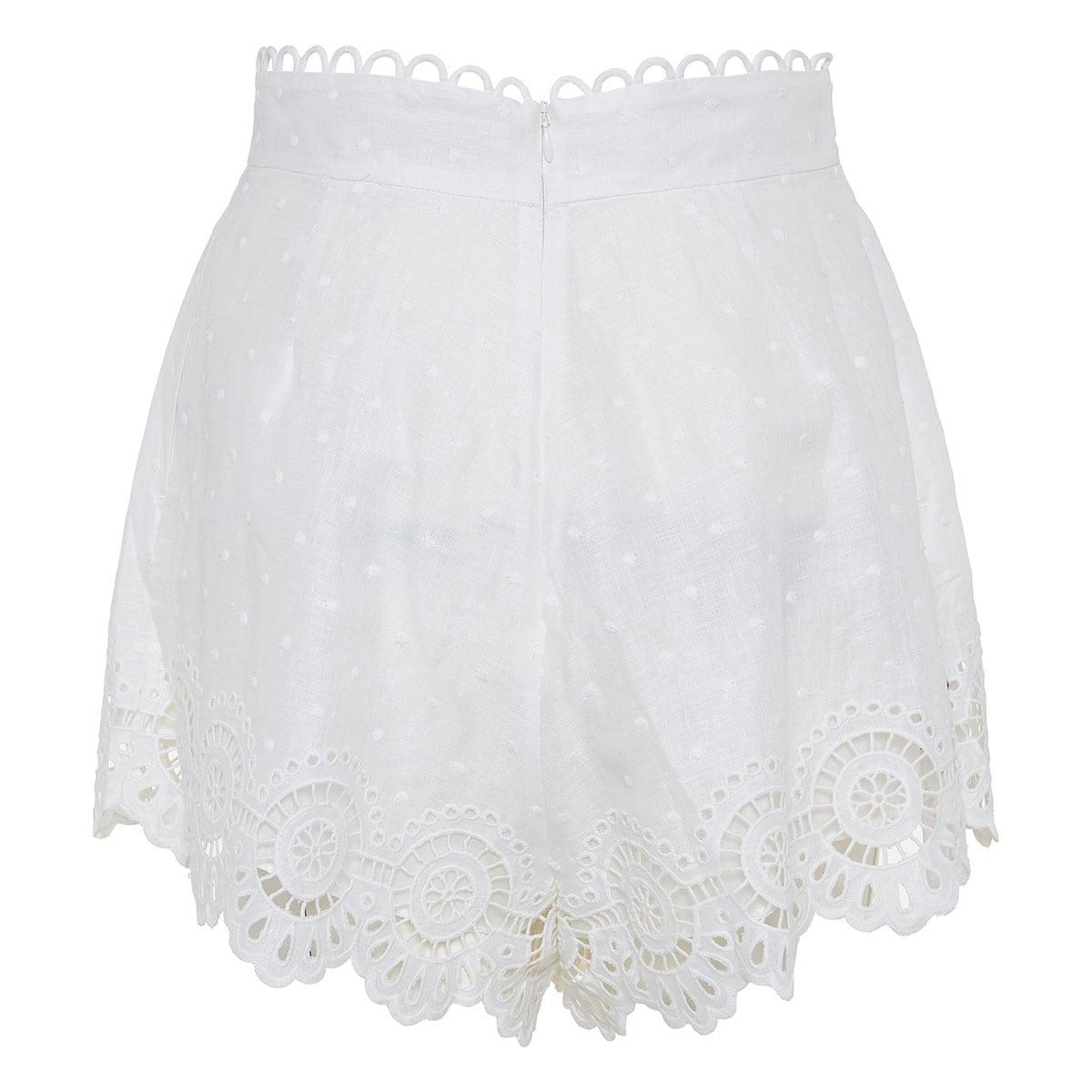 Bellitude broderie linen shorts