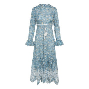 Carnaby long floral ruffled dress